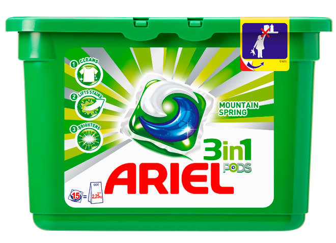 Гель для стирки Ariel Power Capsules Mountain Spring