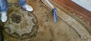 Чистка грязного ковра