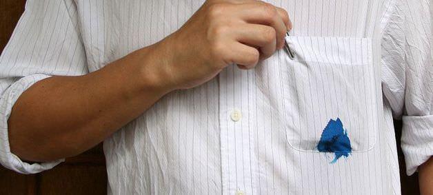 Ручка протекла в кармане рубашки