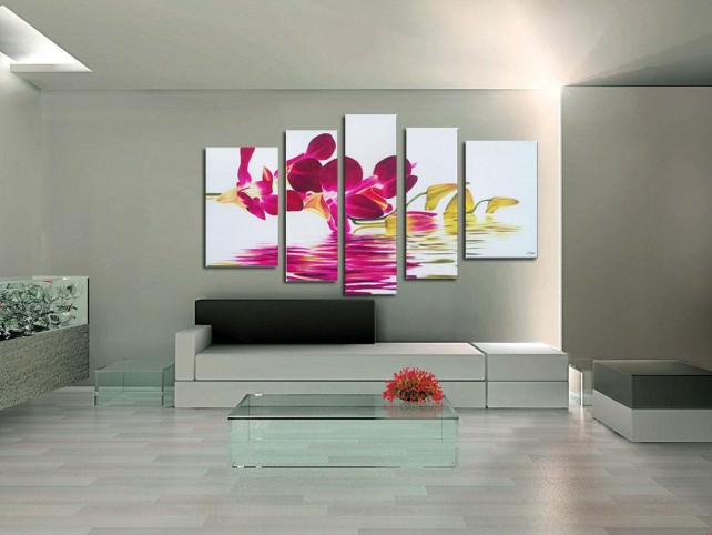 Модульные картины с цветами