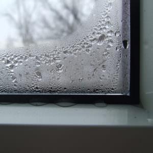 Запотевший угол окна