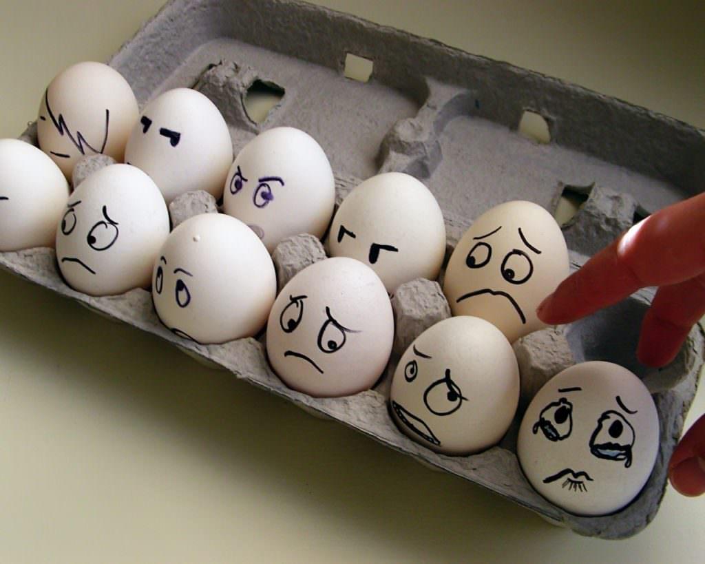 Яйца со смайлами