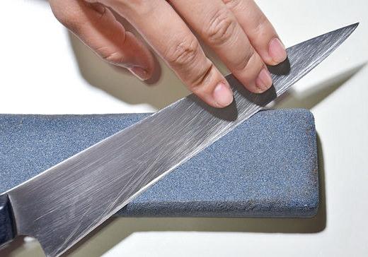 Заточка кухонного большого ножа